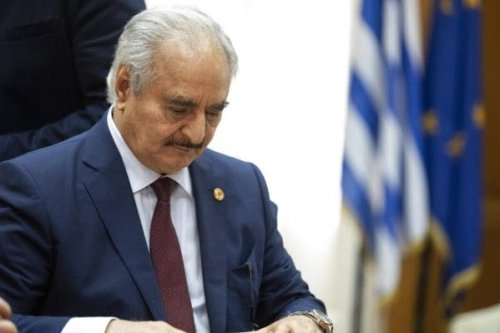 Libyan strongman Khalifa Haftar [AP]