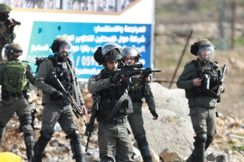 Israeli forces in Ramallah, West Bank on 30 January 2020 [Issam Rimawi/Anadolu Agency]