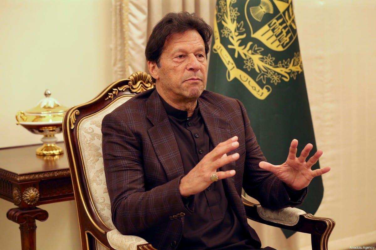 Pakistani Prime Minister Imran Khan in Islamabad, Pakistan on 30 January 2020 [Muhammed Semih Uğurlu/Anadolu Agency]
