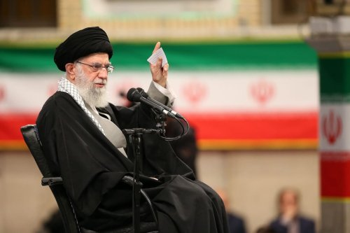 Supreme Leader of Iran, Ali Khamenei makes statements on US President Donald Trump's Mideast plan during an event marking the 41st anniversary of Iranian revolution in Tehran, Iran on 5 February 2020. [Iranian Supreme Leader Press Office / Handout - Anadolu Agency]