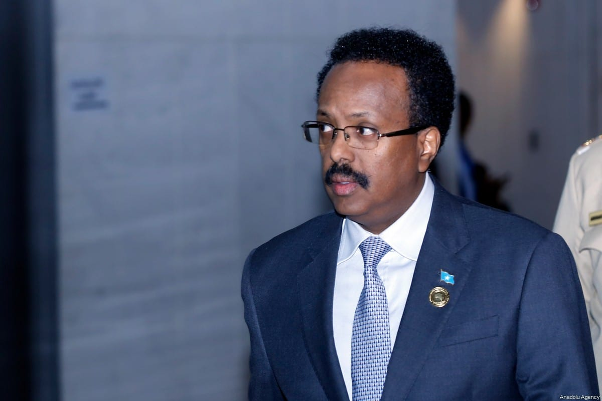 President of Somalia Mohamed Abdullahi Farmajo attends closing session of the 33rd African Union Heads of State Summit in Addis Ababa, Ethiopia on February 10, 2020. [Mınasse Wondımu Haılu - Anadolu Agency]