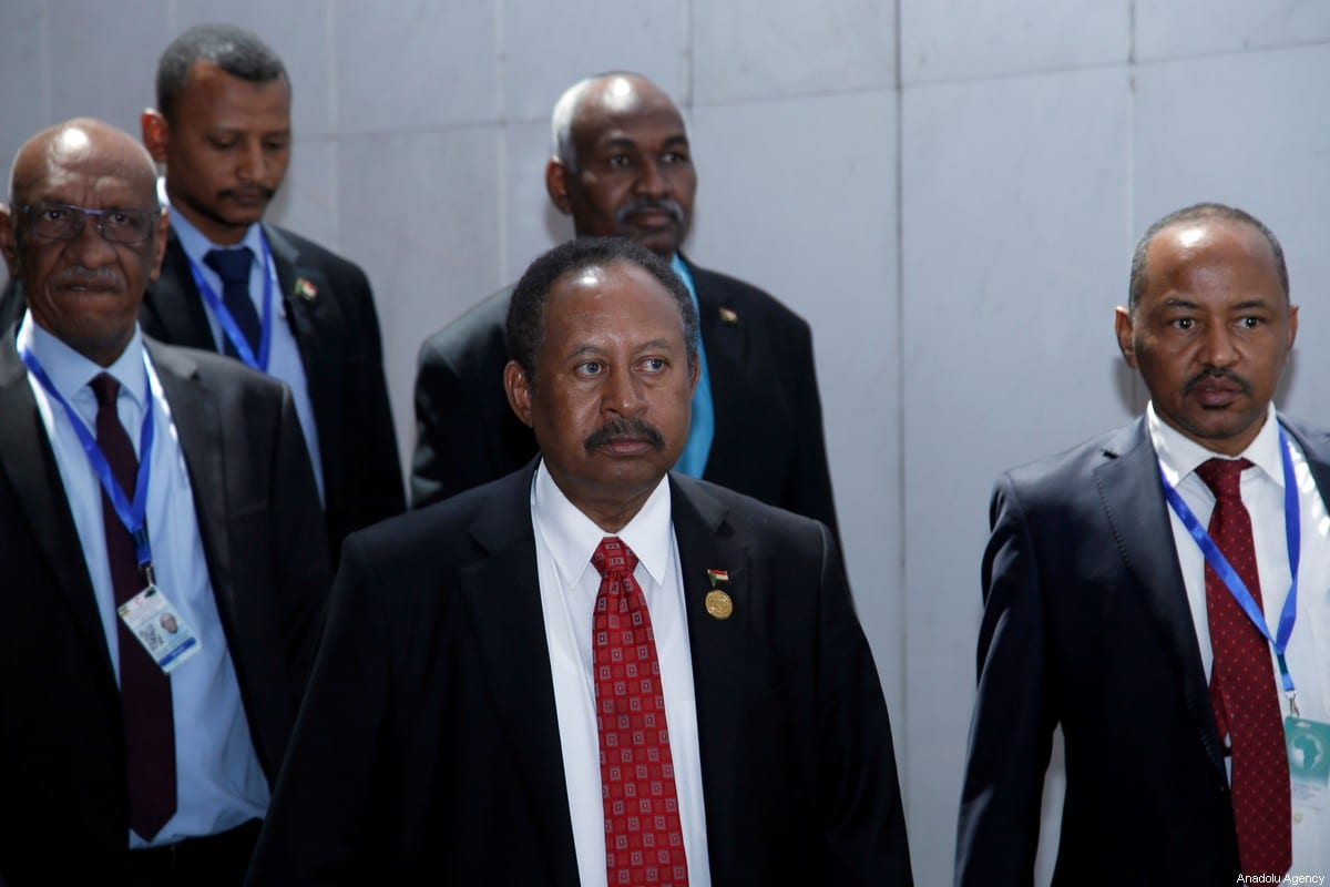 Prime Minister of Sudan Abdalla Hamdok (C) attends closing session of the 33rd African Union Heads of State Summit in Addis Ababa, Ethiopia on 10 February 2020. [Mınasse Wondımu Haılu - Anadolu Agency]