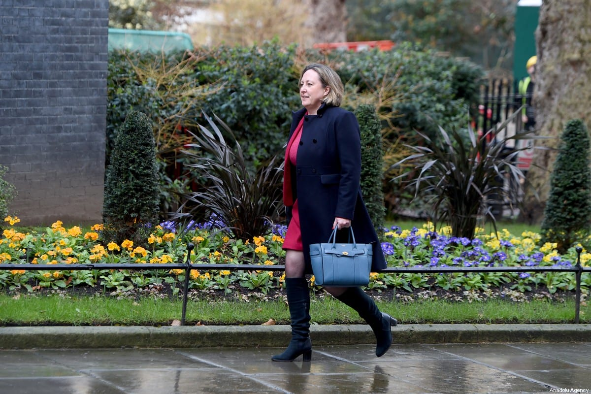 Anne-Marie Trevelyan arrives at 10 Downing Street on 13 February 2020 in London, England. [Kate Green - Anadolu Agency]