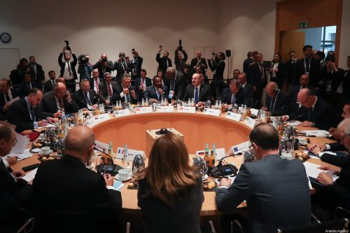 Turkish Foreign Minister Mevlut Cavusoglu attends foreign ministers' meeting to discuss recent efforts for cease-fire in Libya as part of Berlin Process in Munich, Germany on February 16, 2020. [Cem Özdel/Anadolu Agency]