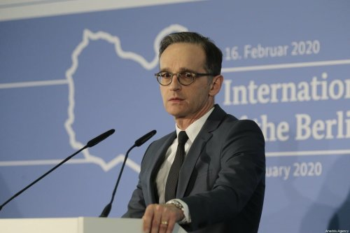 German Foreign Minister Heiko Maas addresses the media after the follow-up meeting on Libyataking place on the sidelines of the Munich Security Conference (MSC) on February 16, 2020 in Munich, Germany. [Abdulhamid Hoşbaş/Anadolu Agency]