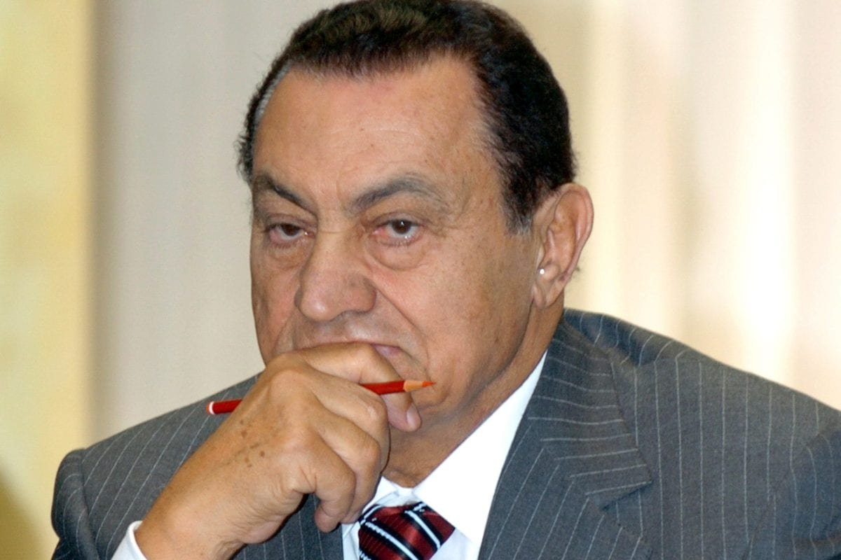 Former President of Egypt Hosni Mubarak on 23 March 2007 [Zekeriya Albayrak/Anadolu Agency]