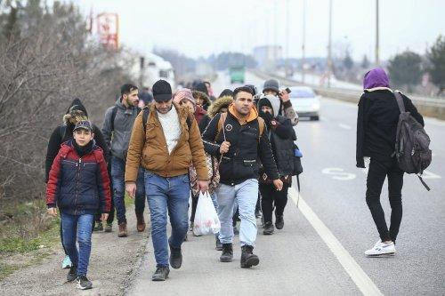 Syrian refugees seen arriving in Turkey's Edirne, on their way to Europe in Turkey on February 28, 2020 [Gökhan Balcı / Anadolu Agency]
