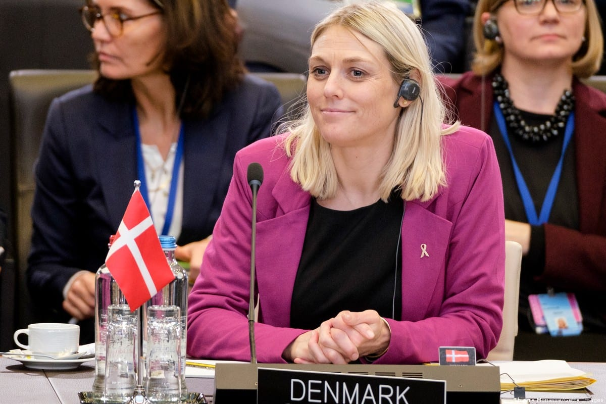 Danish Minister of Defense Trine Bramsen attends the first meeting of NATO ministers in the North Atlantic Treaty Organization headquarter on February 12, 2020 in Brussels, Belgium [Thierry Monasse/Getty Images]