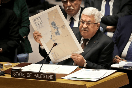 Mahmoud Abbas at the UN in February 2020 [Twitter]