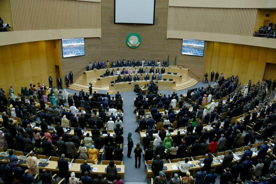 A view from opening session of the 33rd African Union Heads of State Summit in Addis Ababa, Ethiopia on 9 February 2020 [Mınasse Wondımu Haılu/Anadolu Agency]
