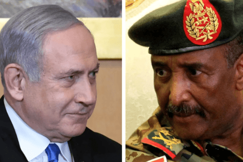 Israeli Prime Minister Benjamin Netanyahu held talks with Abdel Fattah al-Burhan, head of Sudan's sovereign council [Twitter]