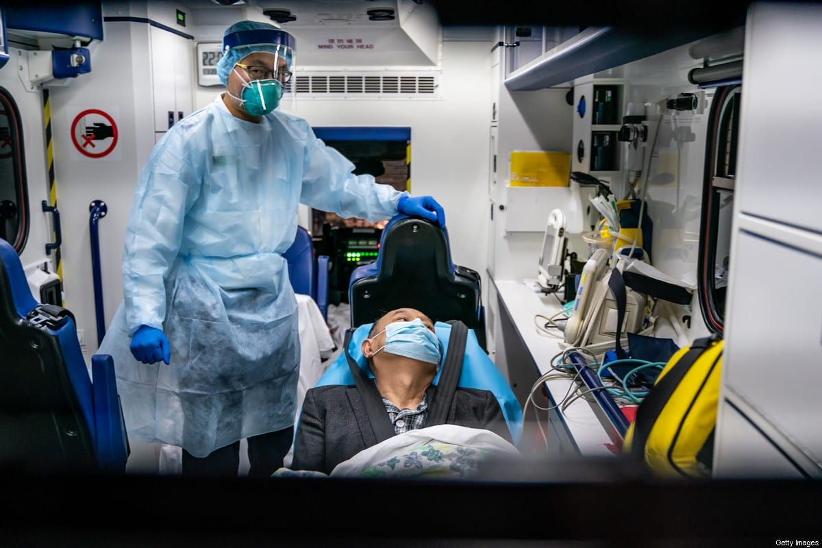 A patient is transferred by an ambulance on 22 January 2020 in China [Anthony Kwan/Getty Images]