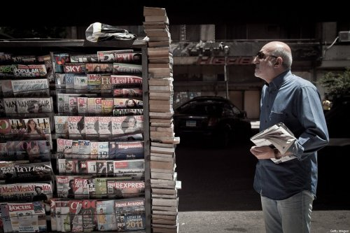 Newspaper stand in Cairo, Egypt on 17 May 17, 2011 [Kim Badawi/Getty Images]