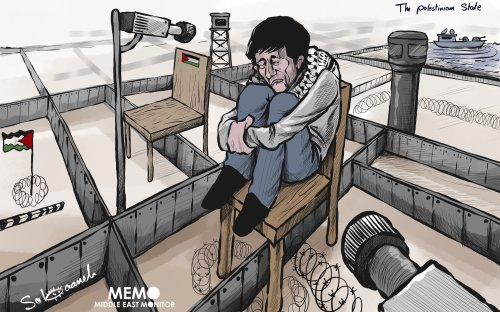 What does the future look like for Palestine? - Cartoon [Sabaaneh/MiddleEastMonitor]