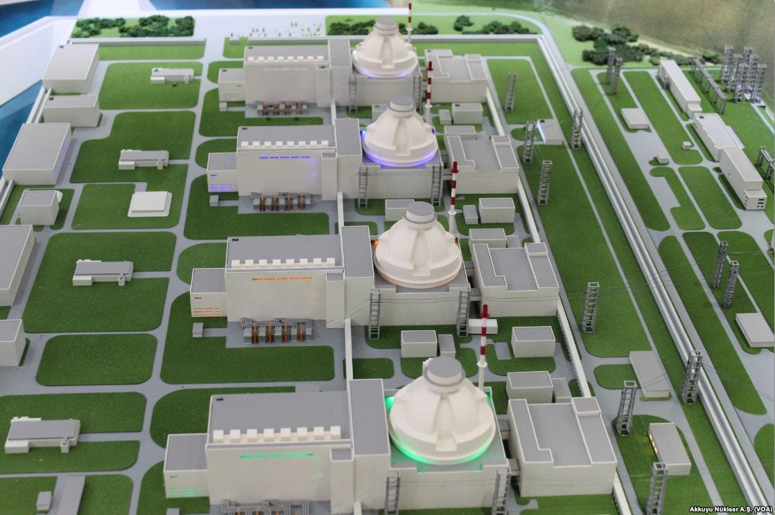 A model of the Akkuyu Nuclear Power Plant in Mersin, Turkey [Wikicommons]