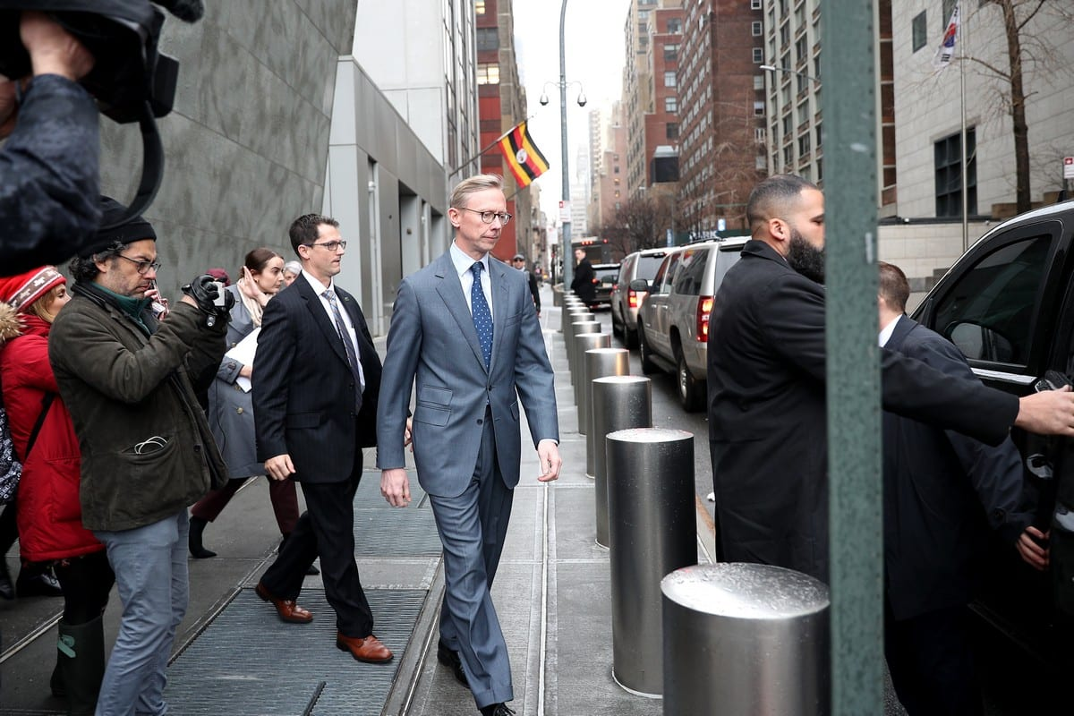 Special Representative for Iran Brian Hook leaves the lunch which held by Donald Trump's son-in-law and Senior Advisor Jared Kushner for representatives of the United Nations Security Council (UNSC), at the Permanent Mission of the United States in New York, United States on February 06, 2020. [Tayfun Coşkun - Anadolu Agency]