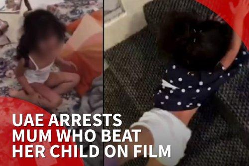 Thumbnail: UAE arrests mum who beat her child on film