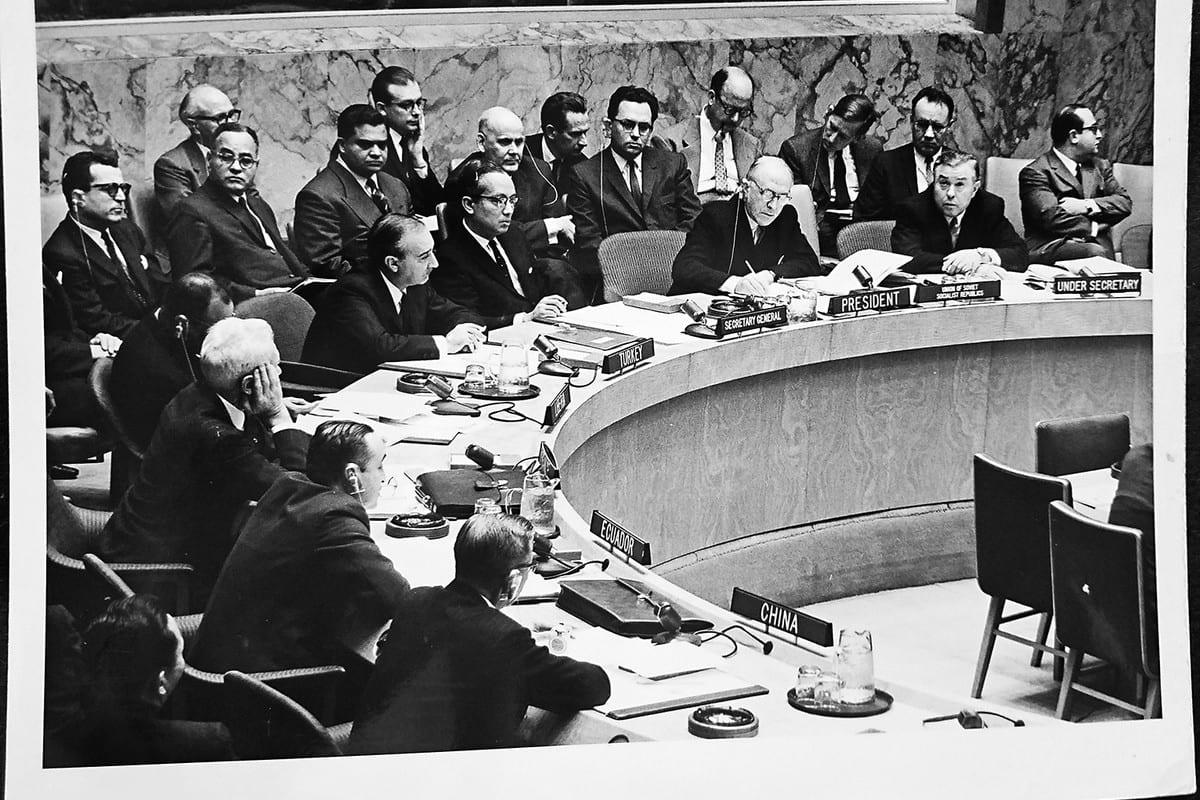 Ismail Raghib Khalidi at UN Security council in 1967