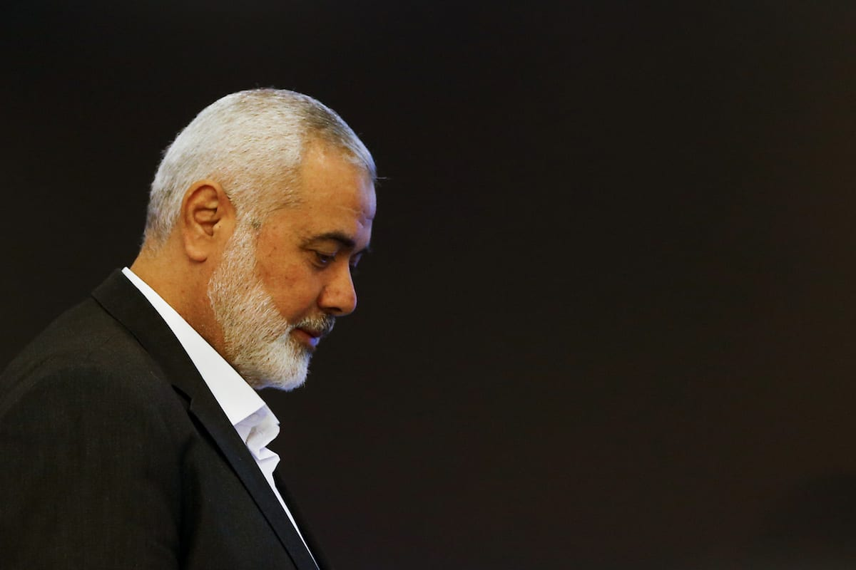 Hamas Political Chief Ismail Haniyeh arrives to hold a press conference in Moscow, Russia on 4 March 2020. [Sefa Karacan - Anadolu Agency