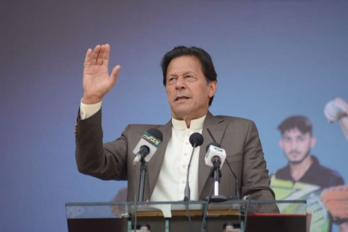Pakistani Prime Minister Imran Khan in Peshawar, Pakistan on 9 March 2020 [Hussain Ali/Anadolu Agency]