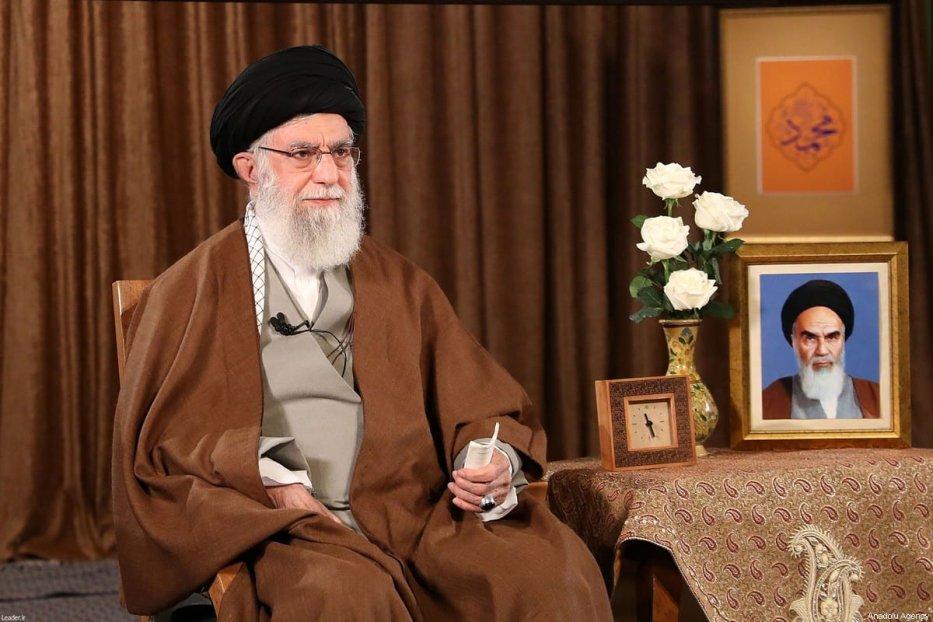 Iranian Supreme Leader Ali Khamenei makes statements regarding coronavirus (COVID-19) on 22 March 2020 in Tehran, Iran [Iranian Supreme Leader Press Office/Anadolu Agency]