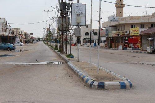 Empty streer is seen as coronavirus (Covid-19) pandemic precautions are taken in Ramsa, Jordan on 28 March 2020. [Laith Al-jnaidi - Anadolu Agency]
