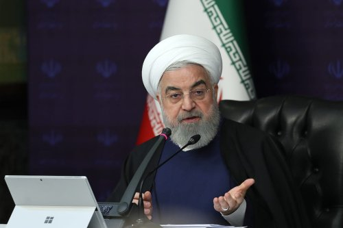 Iranian President Hassan Rouhani in Tehran, Iran on 28 March 2020 [PRESIDENCY OF IRAN/Anadolu Agency]