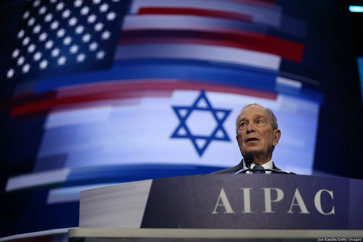 Democratic presidential candidate, former New York City mayor Mike Bloomberg speaks at the American Israel Public Affairs Committee (AIPAC) Policy Conference on March 2, 2020 in Washington, DC [Joe Raedle/Getty Images]