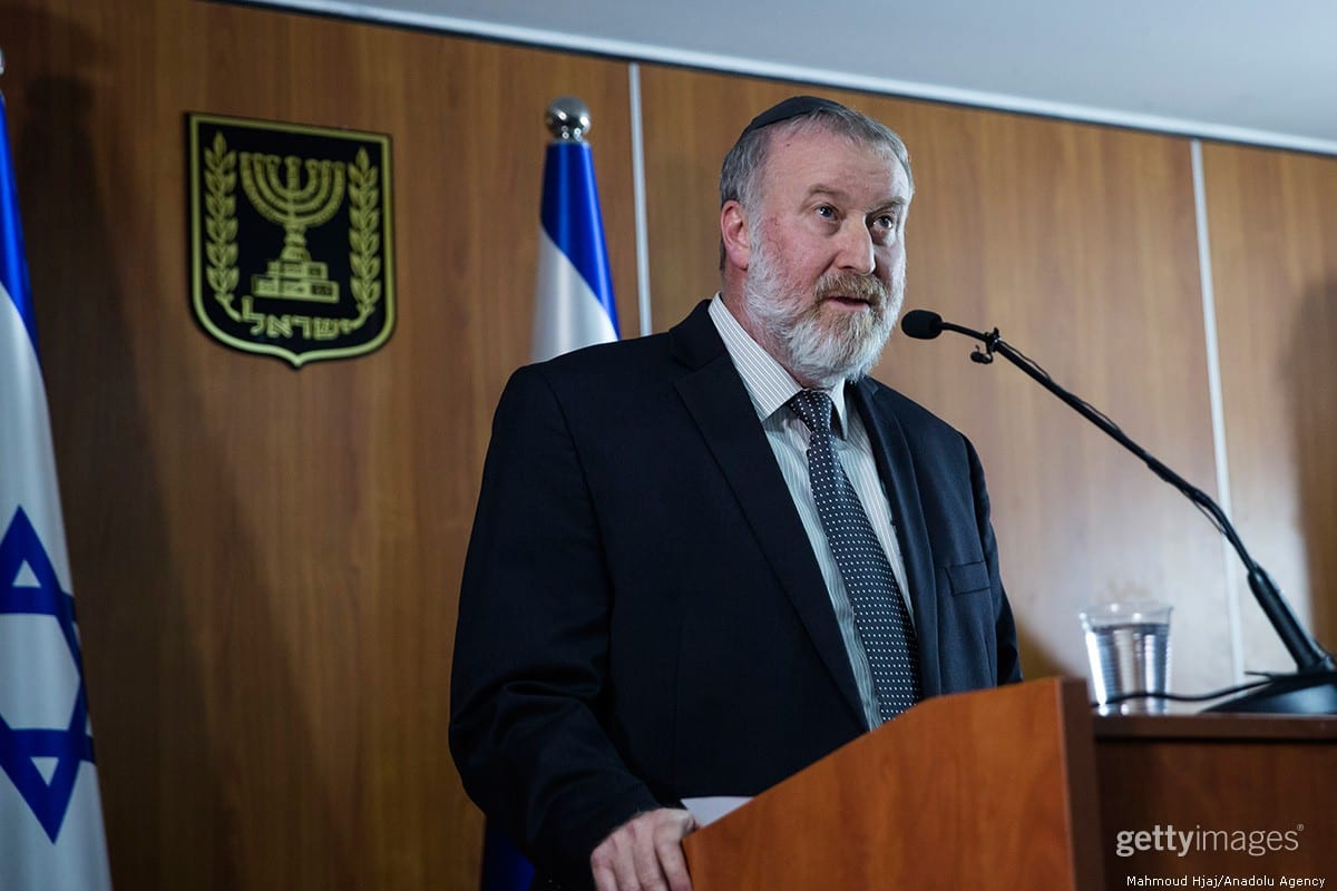 Avichai Mandelblit, Israel's Attorney General in Jerusalem on 21 November 2019 [Amir Levy/Getty Images]