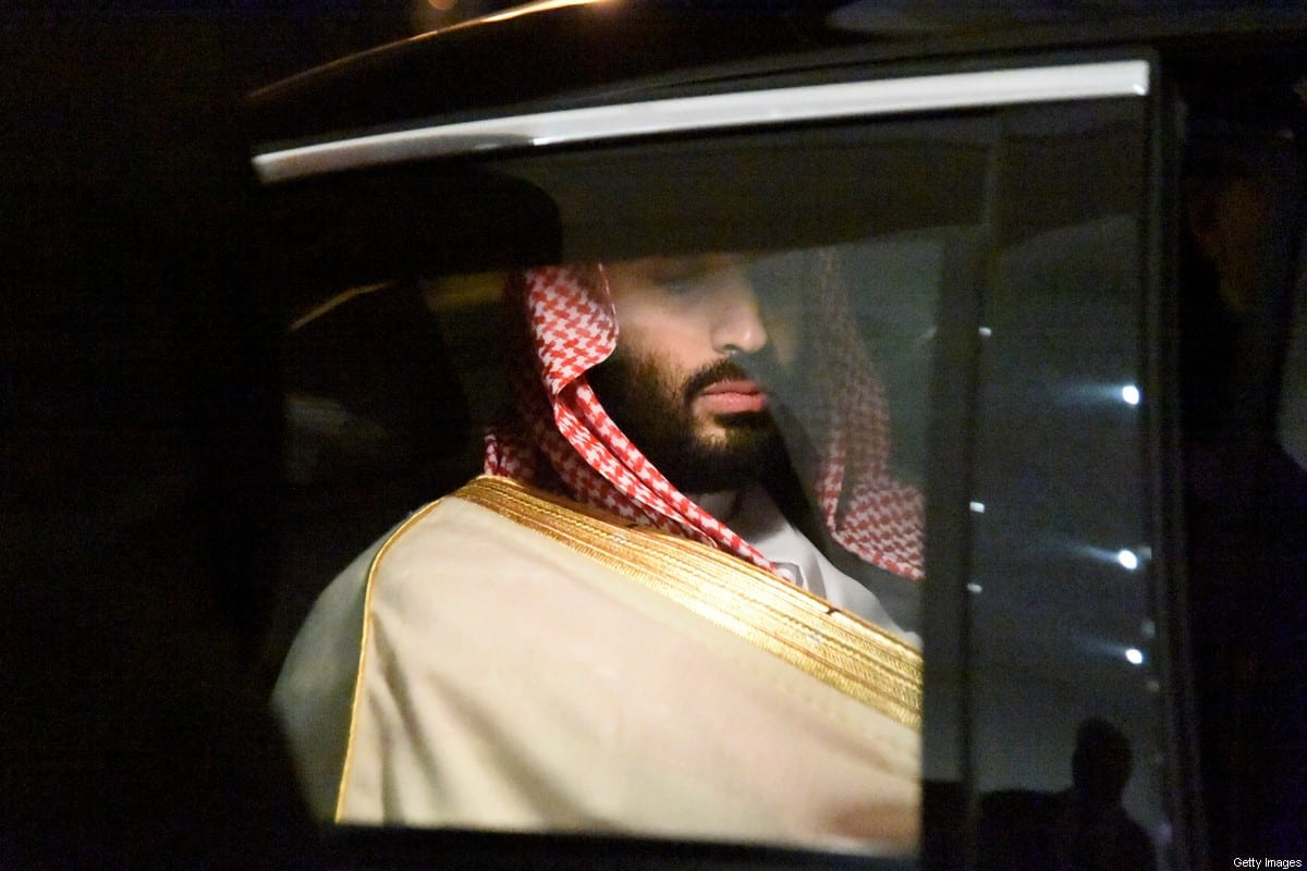 Saudi Crown Prince Mohammed bin Salman is driven to a meeting with Algerian Prime Minister upon the former's arrival at Algiers on 2 December, 2018 [RYAD KRAMDI/AFP via Getty Images]