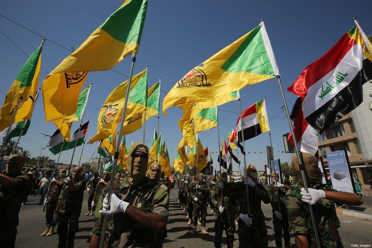 Hezbollah brigades, march in Baghdad, Iraq on 31 May 2019 [AHMAD AL-RUBAYE/AFP/Getty Images]