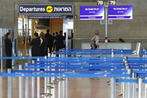 El Al Israel Airlines departure counter is pictured empty after it cancelled flights to Italy at Ben Gurion International Airport, near Tel Aviv, on February 27, 2020. [JACK GUEZ/AFP via Getty Images]
