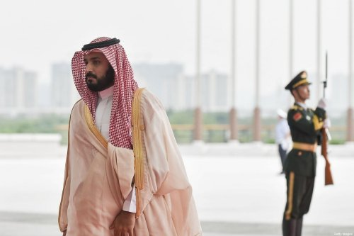 The then Deputy Crown Price Muhammad bin Salman Al Saud (L) of Saudi Arabia arrives at the Hangzhou Exhibition Centre to participate in G20 Summit, on September 4, 2016 in Hangzhou, China [Etienne Oliveau/Getty Images]