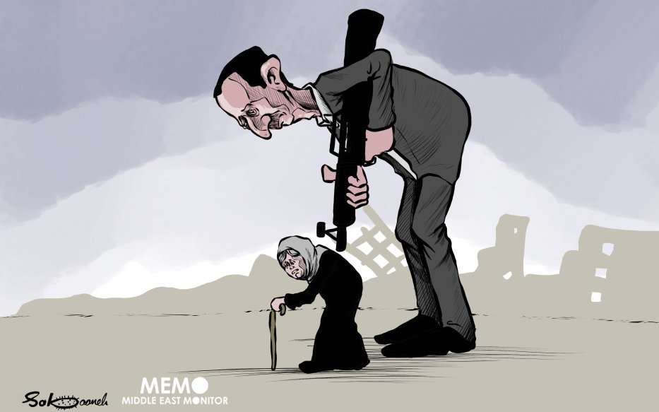 Assad and the Syrian regime committed war crimes- Cartoon [Sabaaneh/MiddleEastMonitor]