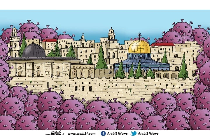 New Israeli settlements in Jerusalem [Cartoon/Arabi21]