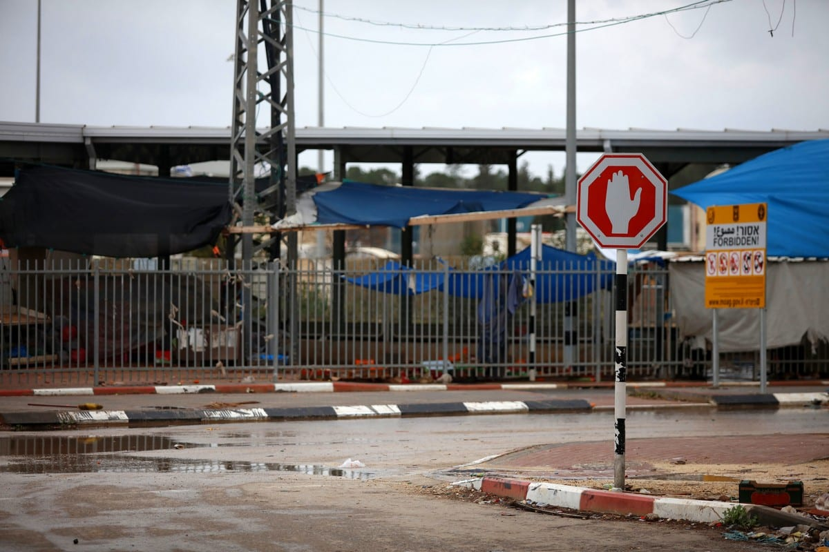 A general view show Al-Jalama checkpoint closed as a preventive measure amid fears of the spread of the novel coronavirus, in the West Bank on 14 March 2020 [Oday Daibes/ApaImages]