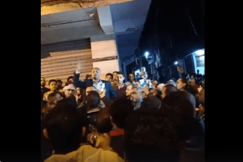 Al-Hayatam residents protest as security forces blockade village in Mahalla, Egypt [Facebook]
