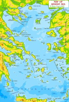Map of Aegean Sea [Wikipedia]