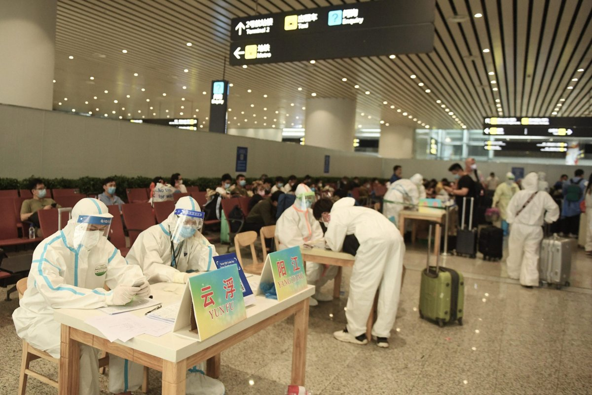 Over 40000 people from abroad will come to Guangzhou in the next week during the outbreak of novel coronavirus on 25 March, 2020 in Guangzhou,Guangdong, China [TPG/Getty Images]