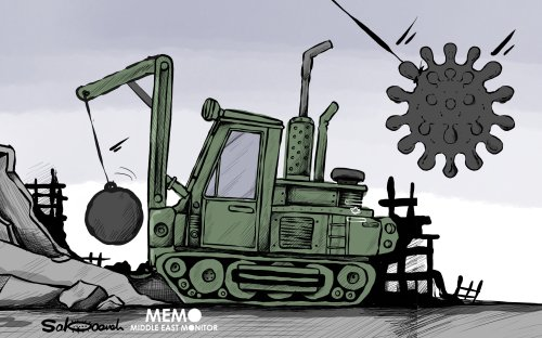There is no humanitarian value in Israel temporarily halting Palestinian home demolitions - Cartoon [Sabaaneh/MiddleEastMonitor]