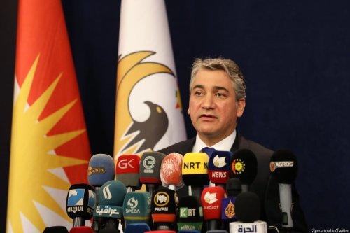 Spokesman of Kurdistan's Regional Government, Jutiar Adel, 27 April 2020 [SpedaArabic/Twitter]
