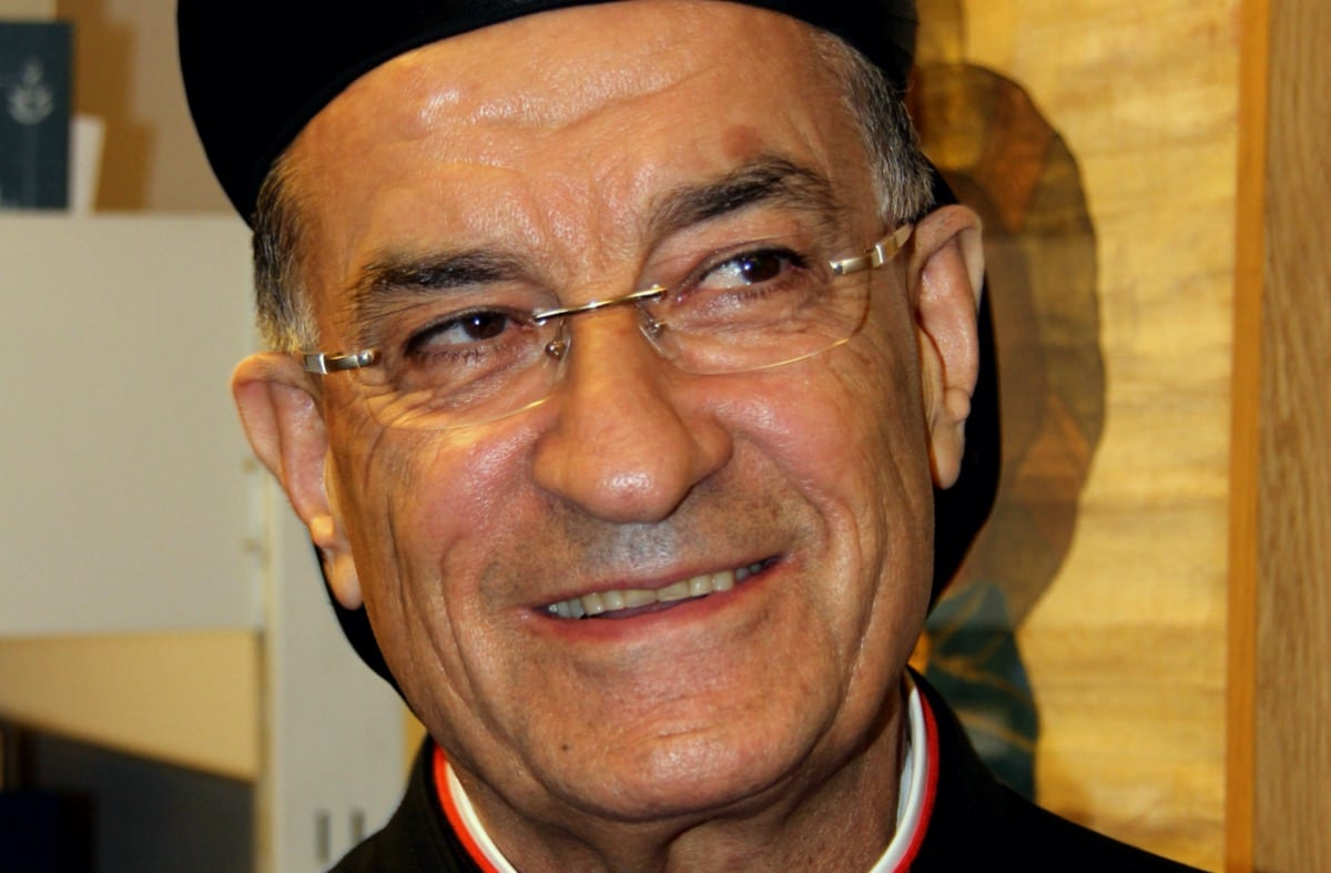 Maronite Patriarch Bechara Boutros Al-Rai, Lebanon's top Christian religious authority [Wikipedia]