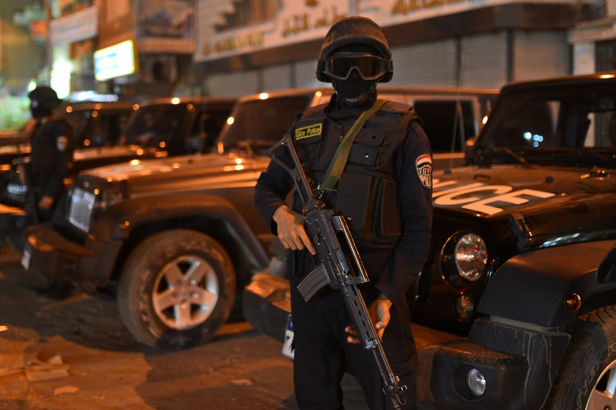 Egyptian security forces in Giza, Egypt on 28 November 2014 [Amr Sayed/ApaImages]
