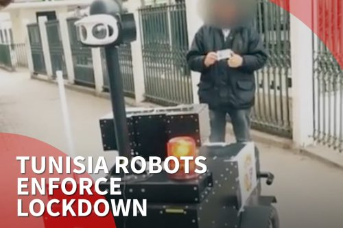 Thumbnail - Tunisia robots enforce lockdown
