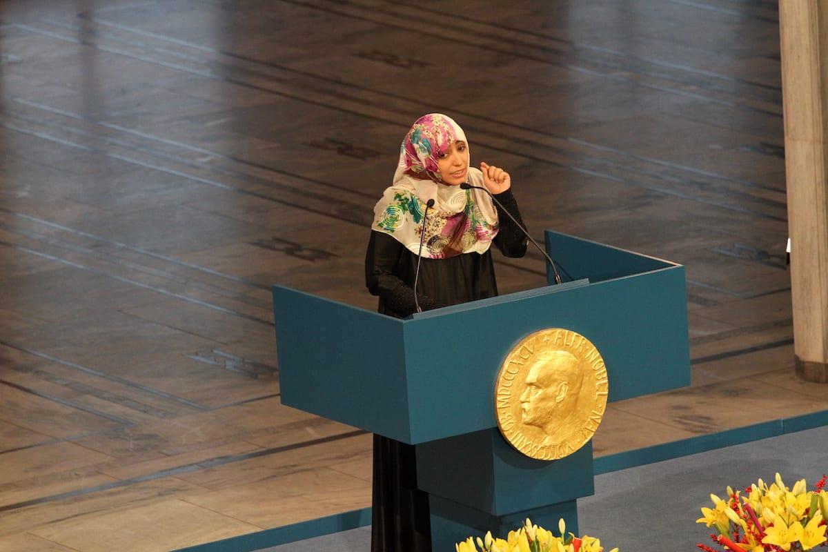 Tawakkol Karman on 10 December 2011 [Flickr]