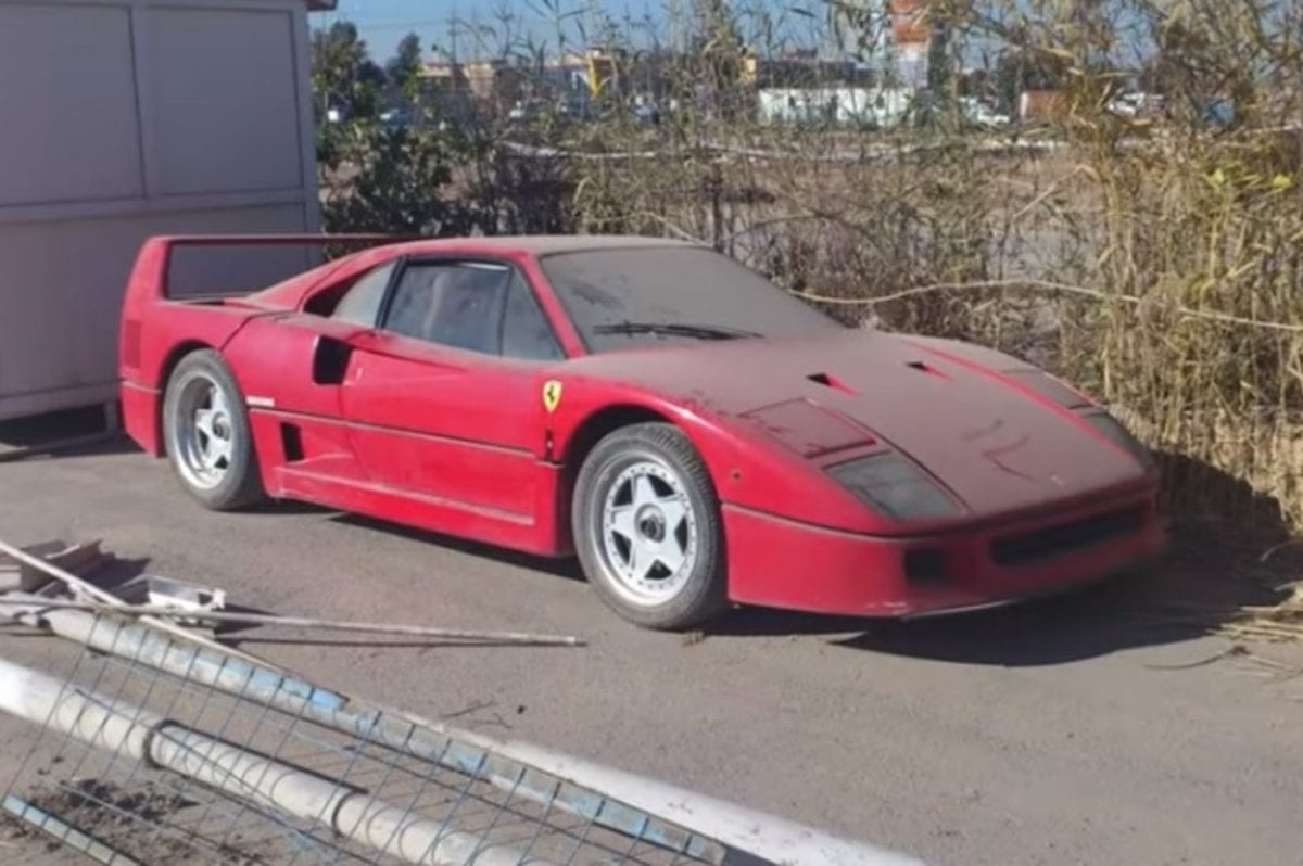 The Ferrari F40 of Saddam Hussein's son Uday in Erbil, Iraq