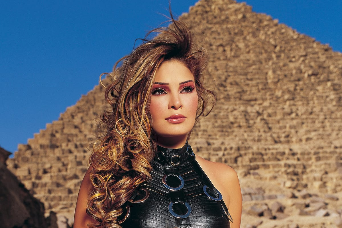 An undated file picture shows Lebanese singer Suzanne Tamim posing during a photoshoot in Egypt [STR/AFP/Getty Images]