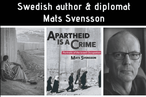 """Apartheid is a Crime – Portraits of Israeli Occupation,"" by Mats Svensson [Twitter]"