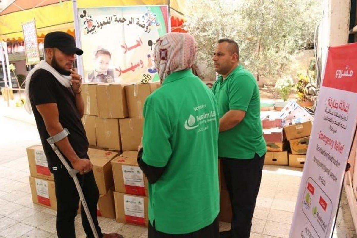 Muslim Aid workers in Gaza 7 May 2020 [Twitter]
