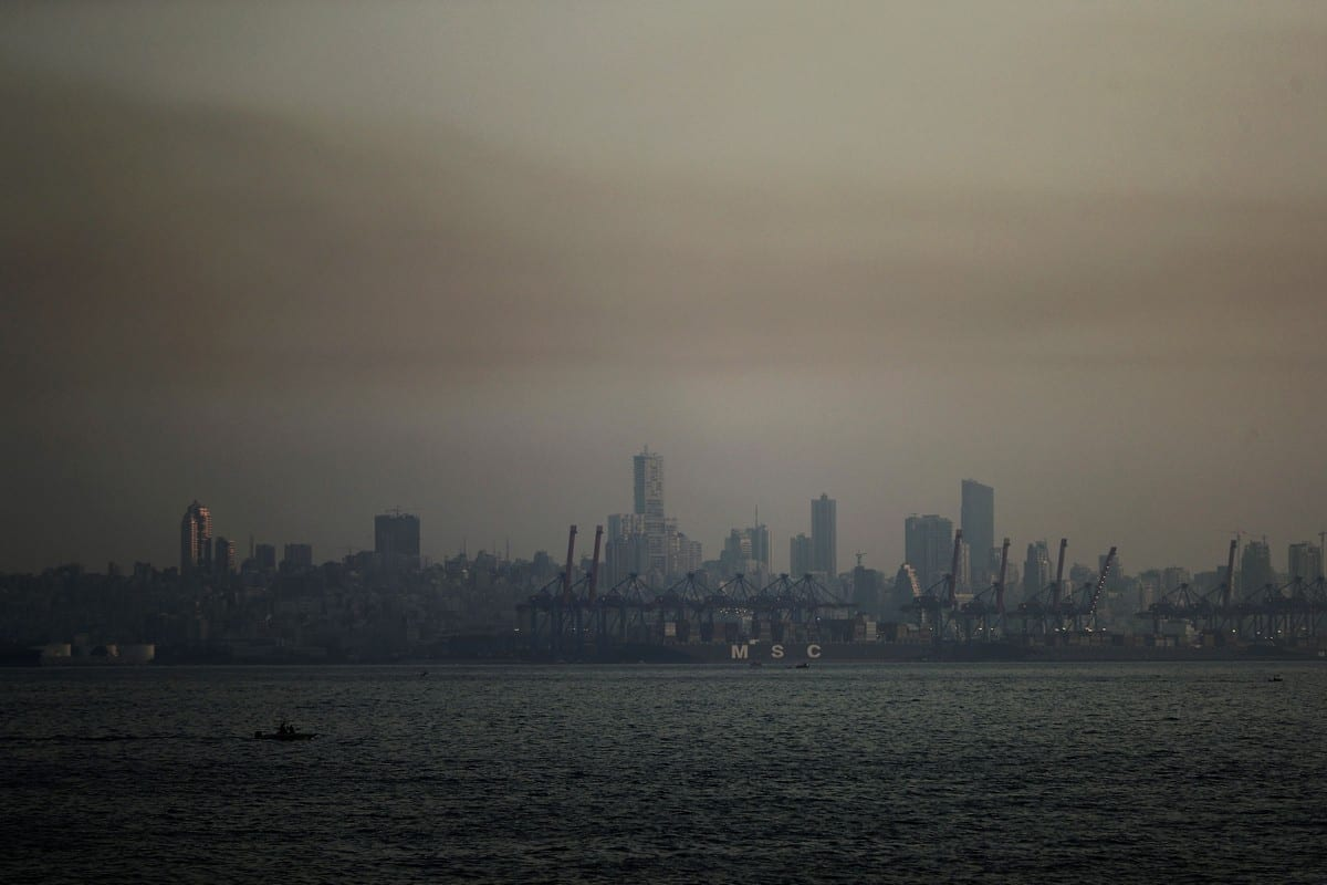 Skyline of the Lebanese capital covered in smog on 7 June 2019 [JOSEPH EID/AFP/Getty Images]